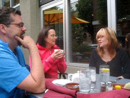 Paul Harrod, Joanna Priestley and Brooke Keesling