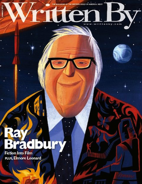 Ray Bradbury by Lou Romano