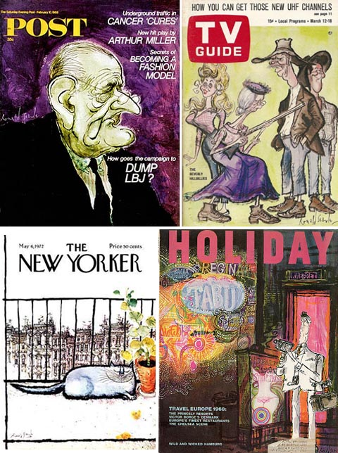 Ronald Searle drew hundreds of magazine and book covers throughout his illustrious career.