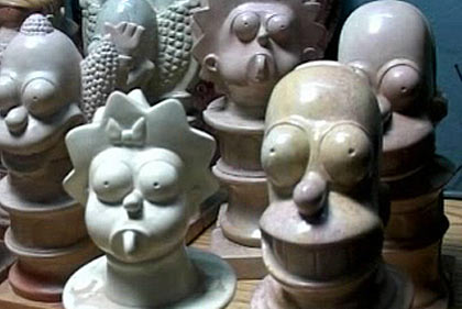 Simpson Carvings