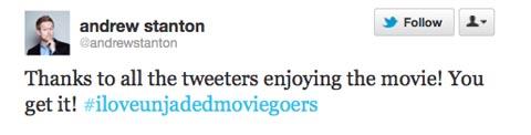 Andrew Stanton tweet