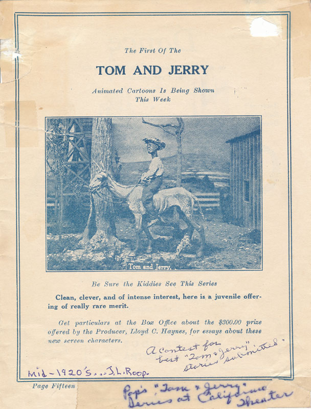 The Man Behind the First Tom & Jerry