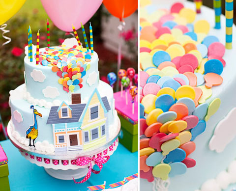 Up cake for Balloon cake decoration