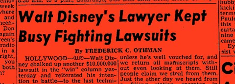 Walt Disney and Lawyers