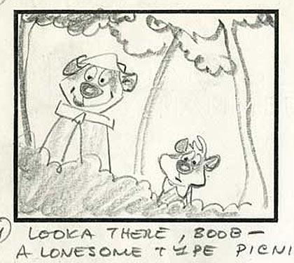 Warren Foster storyboard