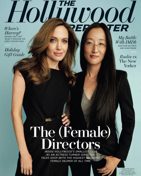 Jennifer Yuh Nelson and Angelina Jolie